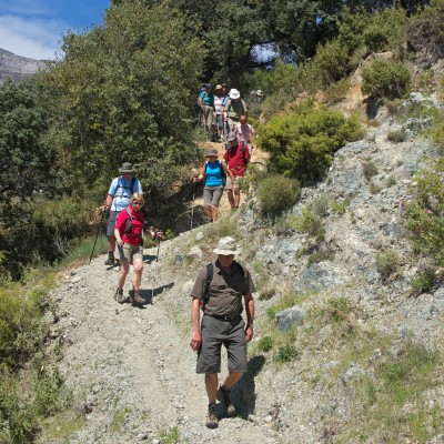 Group of walkers in Andalucia.