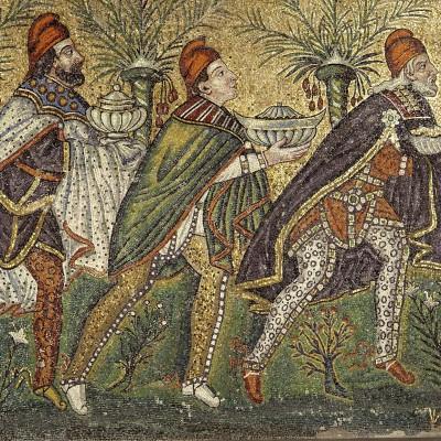 mosaics from basilica di sant apollinare nuovo, ravenna