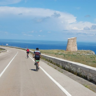 Cycling along the Puglian coast