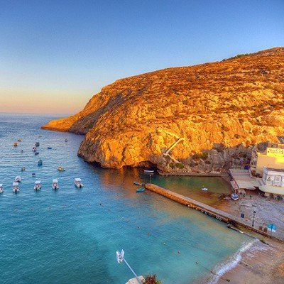 Sunset on Gozo beach