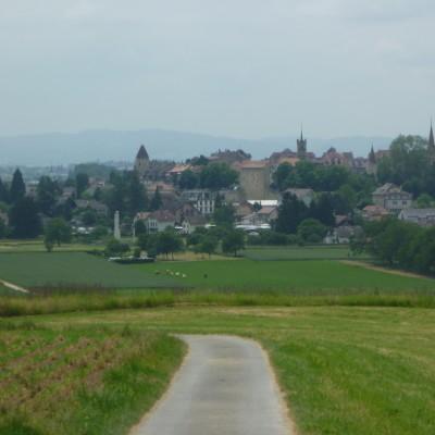 Narrow road on route through The Jura.