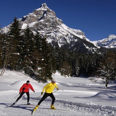 Cross-country skiing at Kandersteg