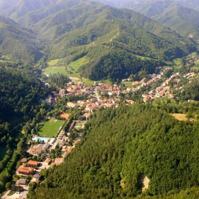 Palazzuolo sul Senio, aerial view