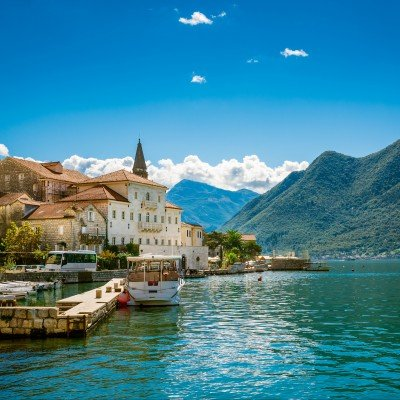 Harbour in Perast, Bay of Kotor.