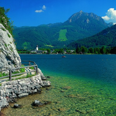 The azure waters of Lake Wolfgang