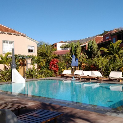The pool at the Hacienda de Abajo