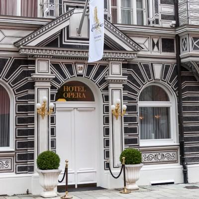 Exterior of the Hotel Opera, Munich