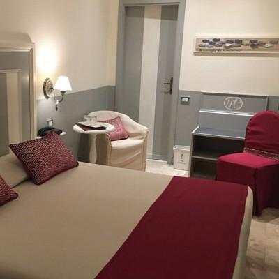 Hotel room at the quaint Hotel la Colonnina, Monterosso
