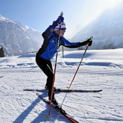 Cross country skiing in Kandersteg